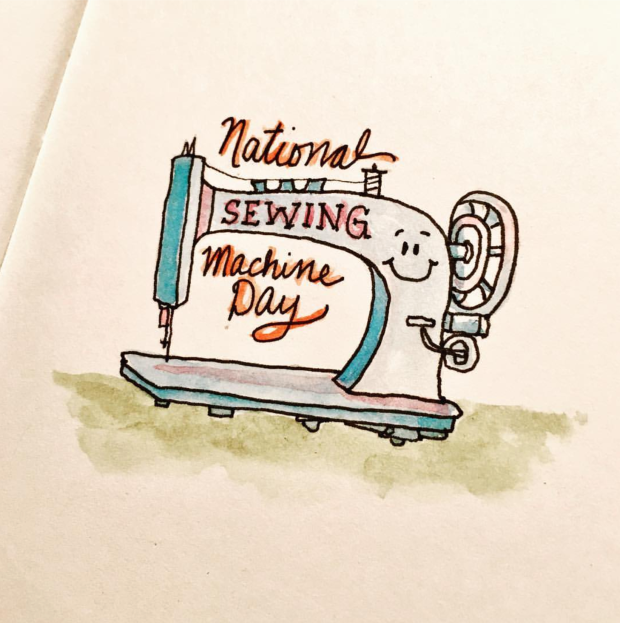Hand Lettering So Many Activities Stunning Lettering Sewing Machine